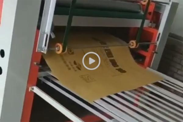 纸塑复合袋,冷切缝热熔印一体机